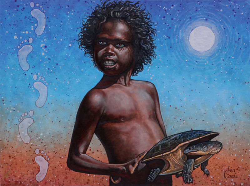 Aboriginal boy artwork