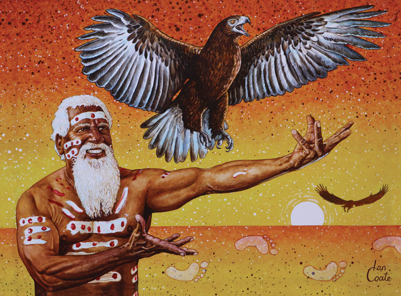 Aboriginal Elder and Australian Eagle