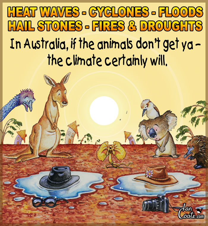 Australian cartoon about the heat