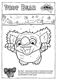 Drop Bear Book Colouring in