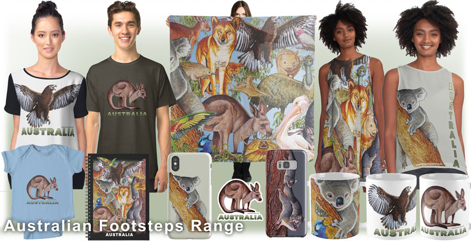 Australian Footsteps Merchandise by Ian Coate