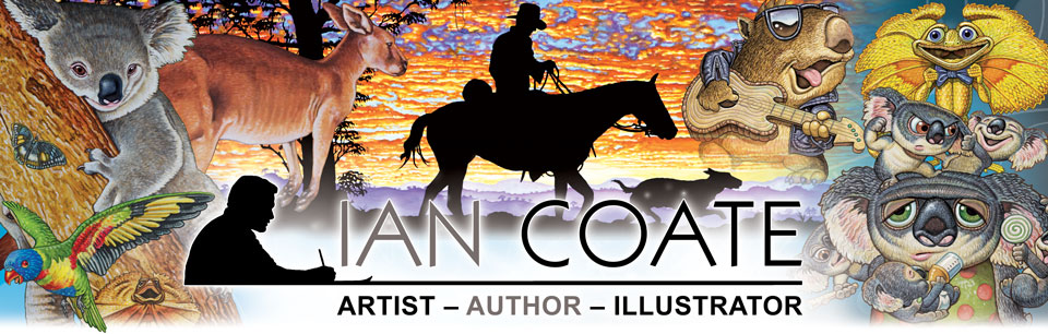 Australiana artworks by Ian Coate