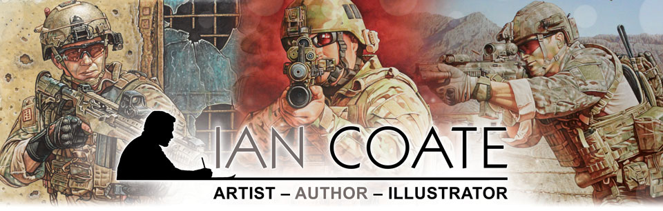 Military Artist and Author Ian Coate