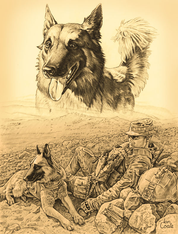 Military Working Dog Art