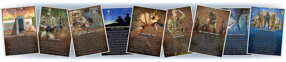 Military art and poems by Ian Coate