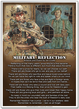 Military Reflection Poem by Ian Coate