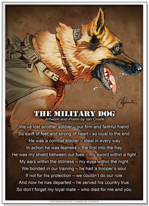 The Military Dog Poem by Ian Coate