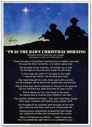 The Dawn Christmas Morning Poem by Ian Coate