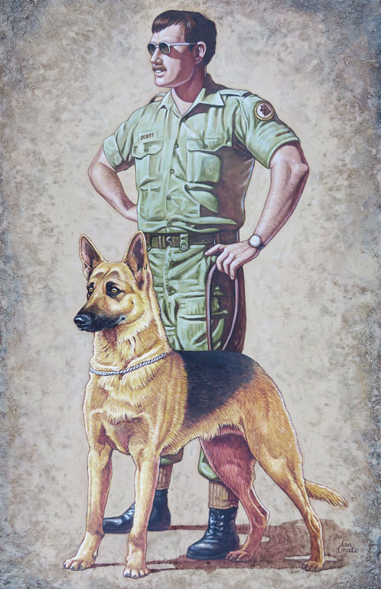 RAAF Military Working Dog Art