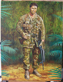 Soldier in Jungle