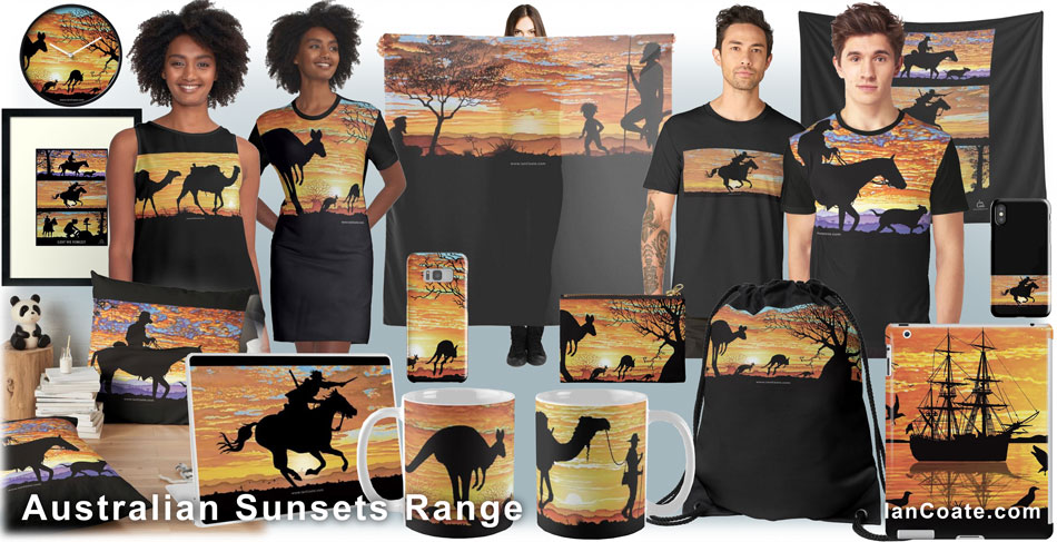 Australian Sunsets Products by Ian Coate