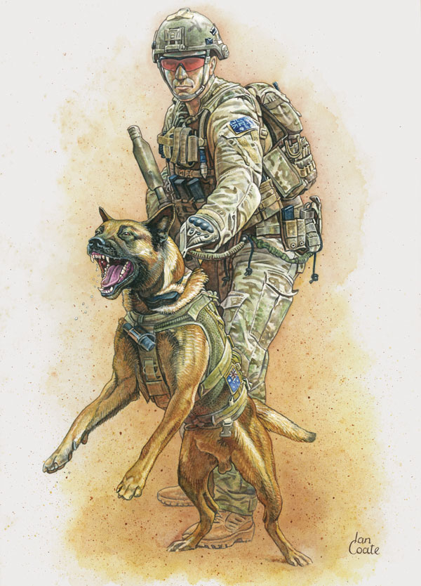 Combat Assault Dog by Ian Coate