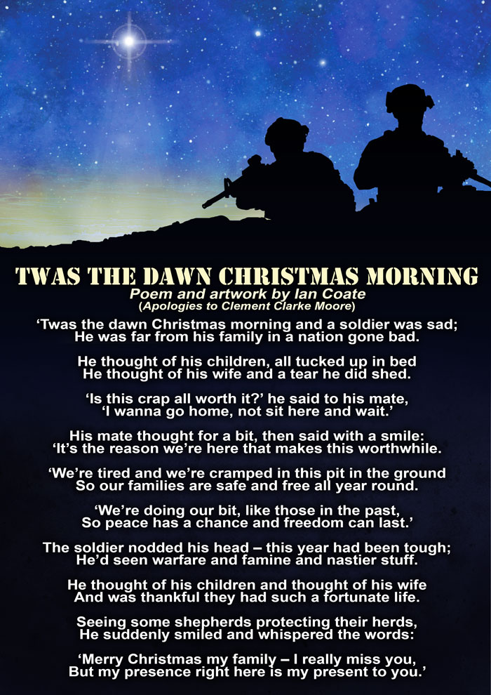 Military Christmas Morning Poem by Ian Coate