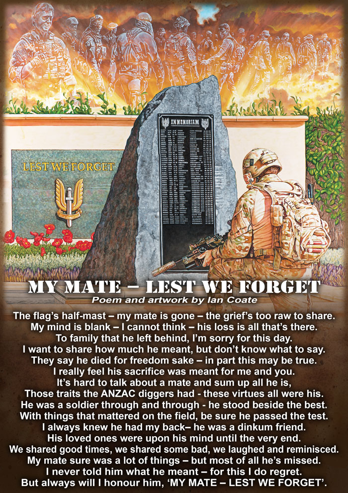 My Mate Lest We Forget Poem by Ian Coate