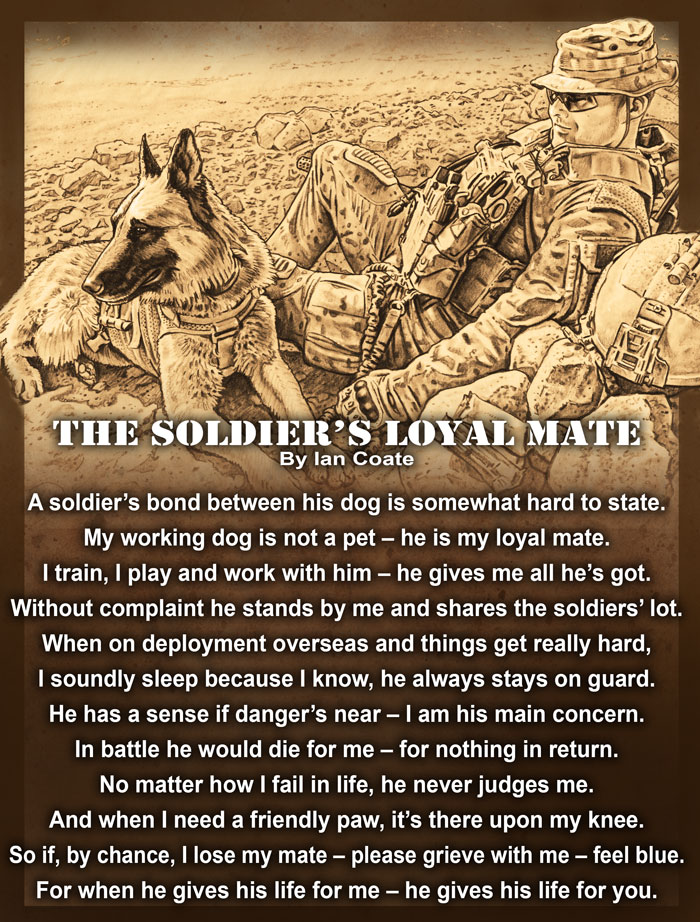 Military working Dog Poem by Ian Coate